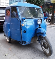 home made motorbike car in Hanoi Vietnam